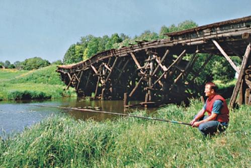 Ловля окуня под мостом