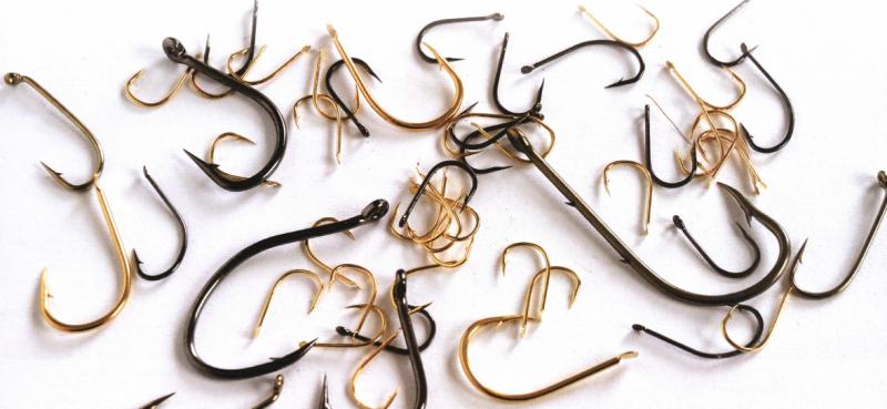Распространенные размеры и формы крючков