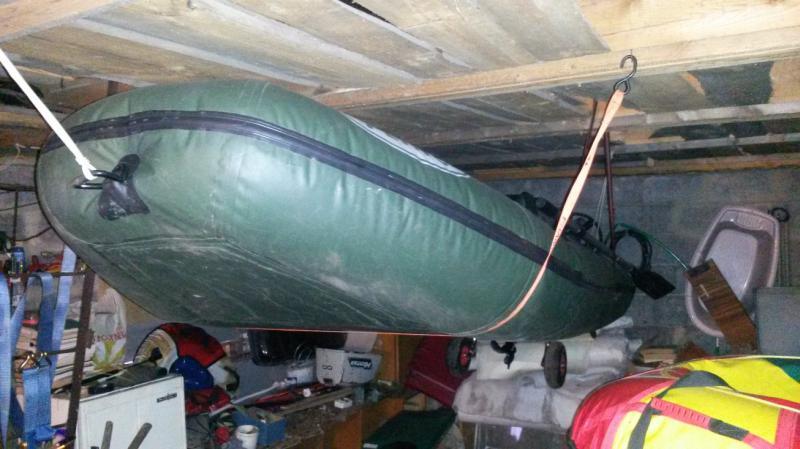 Зимнее хранение резиновой лодки