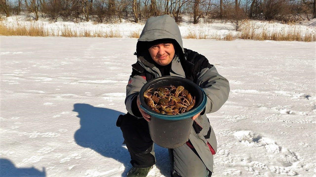 Ловля рака зимой