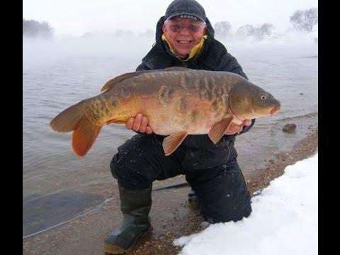 Ловля карпа в озере зимой