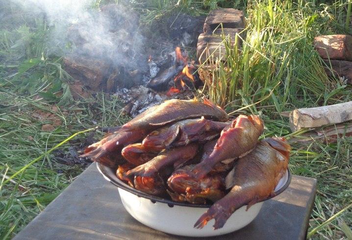 Копчение рыбы без коптильни