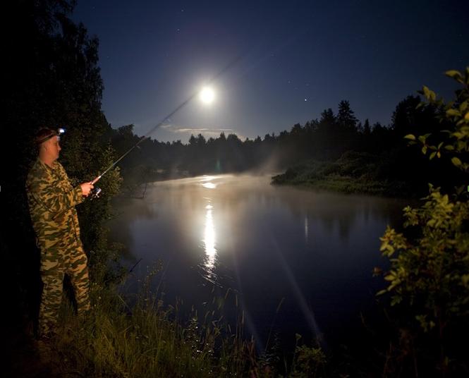 Ловля спиннингом ночью