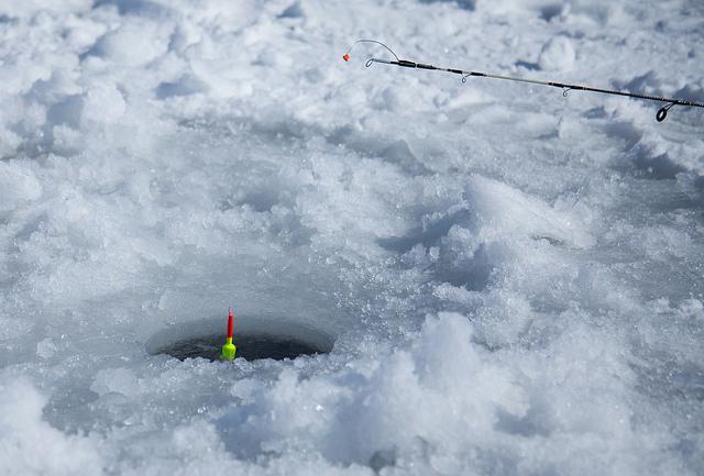Поплавочная снасть для ловли со льда