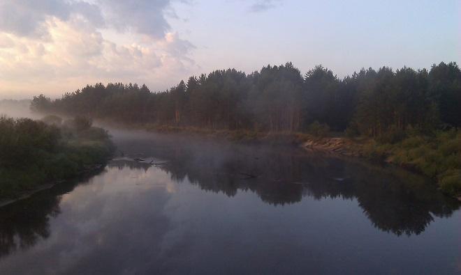 Рыбалка на реке Пра