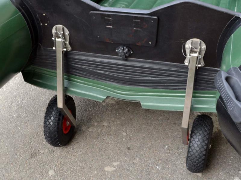 Транцевые колеса для лодки ПВХ - установка колес